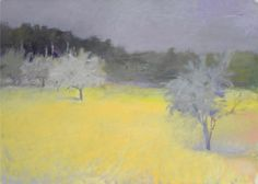 """Hewes Orchard,"" Wolf Kahn, oil on canvas, 30 1/4 x 42 1/8"", private collection."