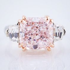 Pink diamond dream is coming true for someone special! #pinkdiamond #diamondring