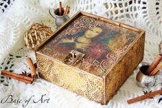 "Шкатулка «Сирена». Мастер-класс от ""Base of Art"". http://dcpg.ru/mclasses/1238/ Click on photo to see more! Нажмите на фото чтобы увидеть больше! decoupage art craft handmade home decor DIY do it yourself"