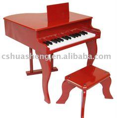 piano de cola rojo