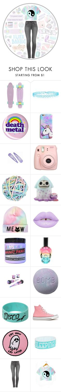 """a little bit of sugar and lots of poison too"" by kaylaita0603 ❤ liked on Polyvore featuring Miss Me, Retrò, Monsoon, Accessorize, Lime Crime, Manic Panic NYC, Converse, Urbanears and J Brand"