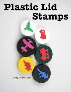 Plastic Lid Stamps by Crafty Journal