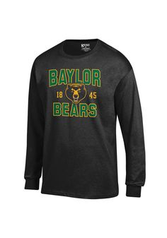 BLACKOUT GAME: Baylor Bears T-Shirt - Black Baylor Arch Team Long Sleeve Tee http://www.rallyhouse.com/shop/baylor-bears-gear-for-sports-15130406?utm_source=pinterest&utm_medium=social&utm_campaign=Pinterest-BaylorBears $24.99