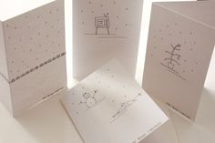 Happy Bloody Christmas Cards. Hand drawn set of four by Rockcakes