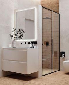 Minimal Bathroom, Simple Bathroom, Modern Bathroom, Home Room Design, Dream Home Design, Bathroom Interior Design, Bathroom Design Inspiration, Toilet Design, House Rooms