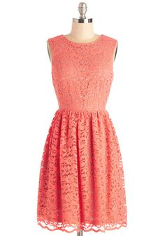 Perfect Dance Partner Dress in Coral | Mod Retro Vintage Dresses | ModCloth.com