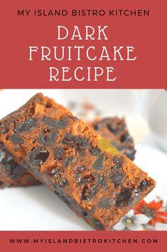 Dark Fruitcake - My Island Bistro Kitchen Baking Recipes, Cake Recipes, Dessert Recipes, Healthy Recipes, Dark Fruit Cake Recipe, Christmas Baking, Christmas Goodies, Christmas Recipes, Christmas Ideas
