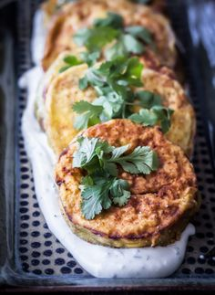 Eggplant with Roasted Garlic Yogurt Sauce - Blogging Over Thyme