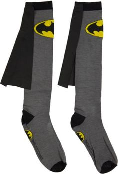 Batman knee socks with cape