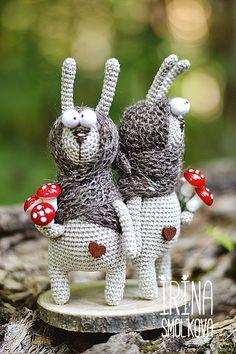 Купить зайцы с мухоморами в интернет магазине на Ярмарке Мастеров