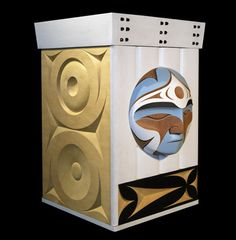 Image from http://www.pacificarts.org/files/jmarston-2058-2656(1).jpg.  Bentwood box by John Marston Coast Salish and Ake Lianga of the Solomon Islands.