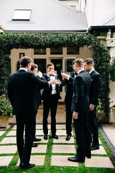 Groomsmen Photo on the Patio Inspiration  / http://www.deerpearlflowers.com/fun-groomsmen-photo-ideas-and-poses/2/