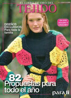 El libro de Oro del Tejido Para Tí Nº 10 - Melina Tejidos - Álbuns da web do Picasa Pull Crochet, Mode Crochet, Crochet Diy, Crochet Coat, Crochet Jacket, Crochet Clothes, Crochet Dresses, Crochet Gratis, Vogue Knitting