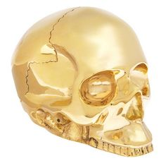 D.L. & Co. large brass decorative skull - HAHA!  What everyone needs on their side table!!!