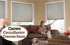 #RollerWindowShades #BlackoutShades #SolarWindowShades #RomanBlinds  Window Coverings Cord Safety for Children and Pets - http://www.zebrablinds.ca/blog/window-coverings-cord-safety-children-pets/