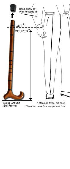 """Should look great and work well and not weigh to much.jpg ~ My """"new"""" cane felt too short so I went to the web! This links to a fantastic article for how to size walking sticks and canes! Walking With A Cane, Walking Sticks And Canes, Wooden Walking Sticks, Walking Canes, Hiking Staff, Cane Handles, Cane Stick, Wooden Canes, Carved Wood Signs"""