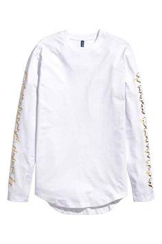 Triko s dlouhým rukávem   H&M