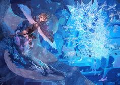 See related links to what you are looking for. Ice Dragon, Dragon Girl, Cool Art, Nice Art, Manga, Anime, Painting, Inspiration, Wallpaper Art