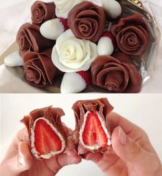 Gorgeous Chocolate Strawberry Roses for Mother's Day
