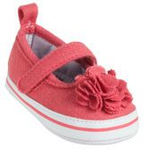 These comfy shoes are great for every day wear and pretty rosette dresses up any outfit.