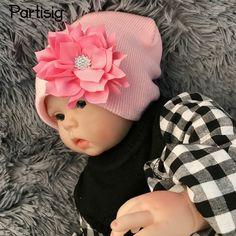 >> Click to Buy << 2017 Baby Girl Hat Diamond Flower Baby Knitting Hat Autumn Winter Baby Ear Cap For Baby Girl Children's Hats Caps #Affiliate