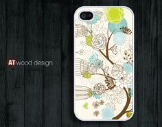 IPhone 5 case IPhone 4 case tree and flower iphone by Atwoodting, $7.99