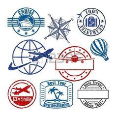 travel logo: Travel stamp