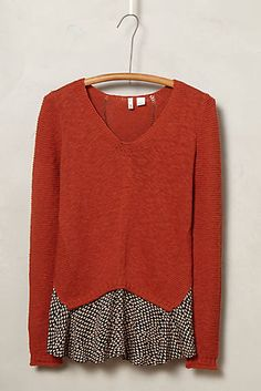 with scarf, blouse or skirt Jungle Ruffle Pullover