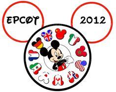 EPCOT Mickey DIY World Showcase Iron Appliqué Disney Vacation Magic Kingdom France Counties Canada Japan