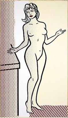 Roy Lichtenstein, Nude, 1997 this way the silhouttes u can do litchen style for the wall painting