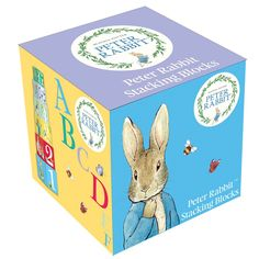 Peter Rabbit Stacking Blocks are a great gift idea for Kids age 2. They will enjoy learning to count and the alphabet with the different Peter Rabbit Characters.