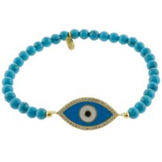 14k Gold Over Sterling Silver Turquoise Beaded Guardian Eye Stretch Bracelet Amazon Curated Collection. $36.00. The natural properties and composition of mined gemstones define the unique beauty of each piece. The image may show slight differences to the actual stone in color and texture.. Gemstones may have been treated to improve their appearance or durability and may require special care.. Made in Turkey. Save 49%!