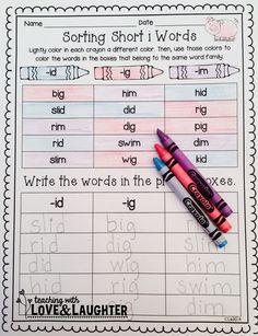 Word Sorts {Kindergarten Edition}