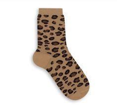 Socks feminina 04570-108 - Preferência nacional entre as mulheres, o animal print não poderia ficar de fora.