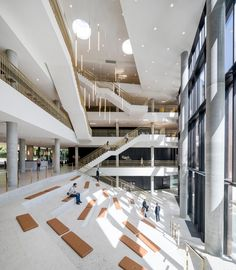 Gallery of Carlsberg Group Central Office / C.F. Møller Architects - 4 Office Pictures, Space Gallery, Corporate Interiors, Atrium, Urban Landscape, Terrazzo, Urban Design, Stairs, Architecture