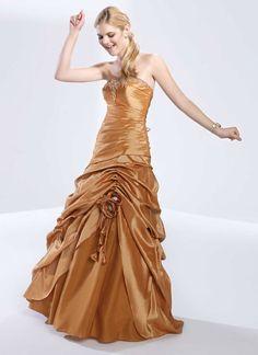 Sweetheart taffeta home coming dress with dropped waist