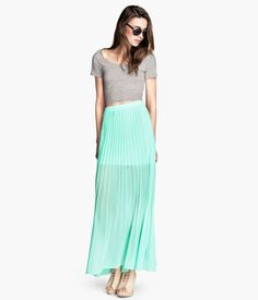 I bought this the other day.  I wore it to a baby shower.  I loved it. Long Mint Maxi Shirt   H&M US