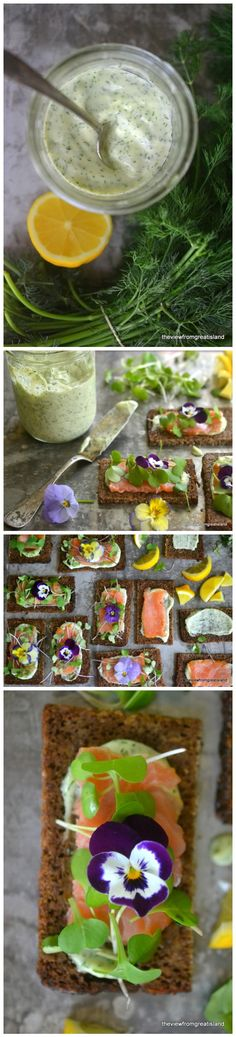 Smoked Salmon Sandwiches WHAT YOU WILL NEED thinly sliced pumpernickel or rye bread, sometimes called cocktail bread butter at room temperature homemade dilled mayonnaise (recipe below) salt and fr...