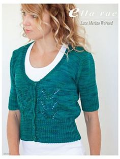 Ravelry: Lace Merino Worsted Cardigan (ER1012) pattern by Leanne Prouse