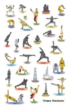 Star Wars Yoga- I've been seeing these separately all week.. finally they're all on one image.