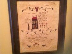 Love this picture I hand embroidered frame from Value Village Repainted