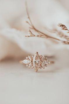 Dream Engagement Rings, Wedding Engagement, Marquise Engagement Rings, 1920s Engagement Ring, Victorian Engagement Rings, Gemstone Engagement Rings, Engagement Couple, Pretty Rings, Ring Verlobung