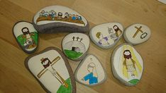 The Easter Story Story Stones: Educational story by DebstaArt