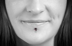 Lip Piercing Labret, Face Piercings, Facial, Classy, Image, Beautiful, Women, Fashion, Piercing Ideas