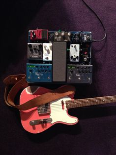 My pedalboard with Seth's MJT Tele