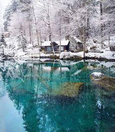 Blausee : Kandersteg, Switzerland