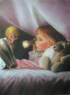 Secret World of Books Reading Art, I Love Reading, Kids Reading, Bedtime Reading, I Love Books, Books To Read, My Books, Michel De Montaigne, Storybook Cottage