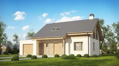 DOM.PL™ - Projekt domu SZ5 Z210 GLt CE - DOM OZ7-20 - gotowy projekt domu Home Fashion, Shed, Outdoor Structures, Mansions, House Styles, Home Decor, Projects, Decoration Home, Manor Houses