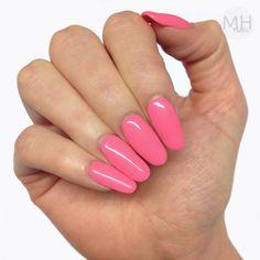 Pink Lemonade Coral Bright Girly Summer Nails