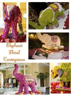 elephant floral centerpieces-I wish I could afford this!!! How awesome!